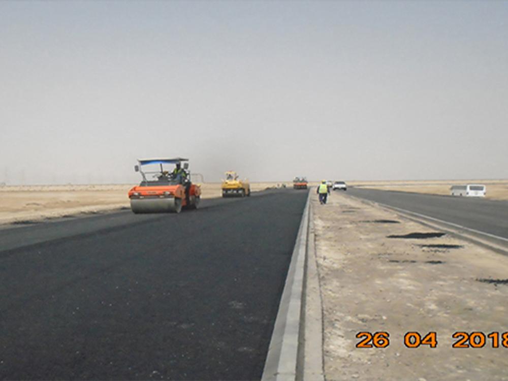 مشروع الطريق الدائم لمحطة التحلية